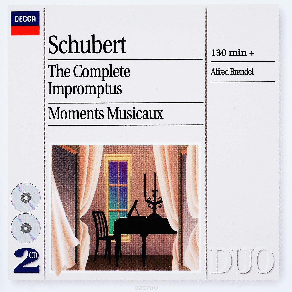 Schubert. Alfred Brendel. The Complete Impromptus - Moments Musicaux (2 CD)
